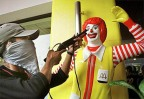 'Terrorists' kidnap Ronald McDonald in Helsinki